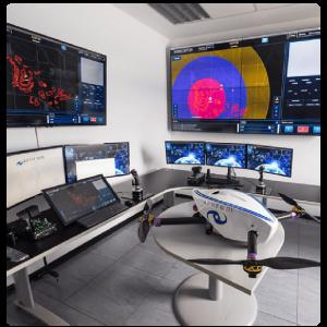 Dronecaptor centro control
